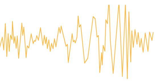 2015년 9월 미국 레이저간섭계중력파관측소(LIGO)에서 사상 최초로 관측된 중력파의 패턴. - 노벨미디어 제공