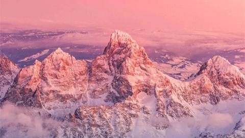 하늘에서 촬영한 미국 서부 경이로운 풍경