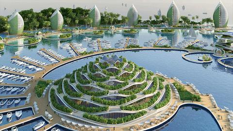 벨기에 건축가의, 환상적 친환경리조트