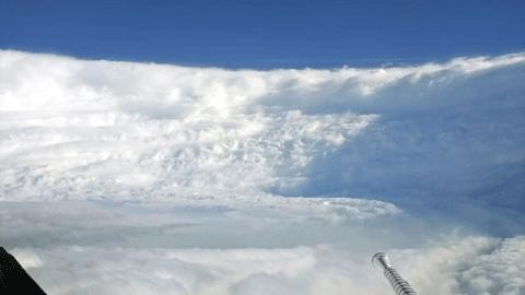 '태풍의 눈' 속에서 촬영한 사진