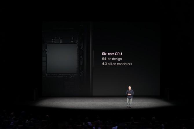 A11 바이오닉 프로세서는 2+4 방식의 혼합 프로세서입니다. - 최호섭 제공