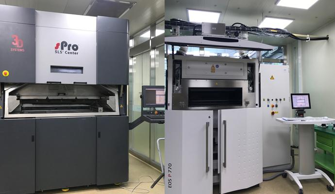 유니스트에는 방 두 개를 가득 메우는 크기의 3D 프린터 설비가 구비돼 있다. - 염지현 제공