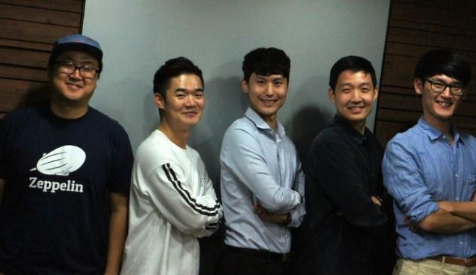 왼쪽부터 민경국, 김태준, 강민구, 조승완, 하정철 씨