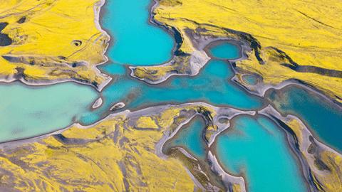 아이슬란드의 예술 작품 같은 호수