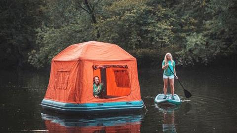 아이디어, 물에 뜨는 텐트 '눈길'