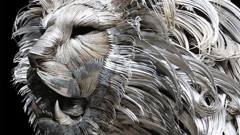 4만개 금속 조각으로 만든 사자
