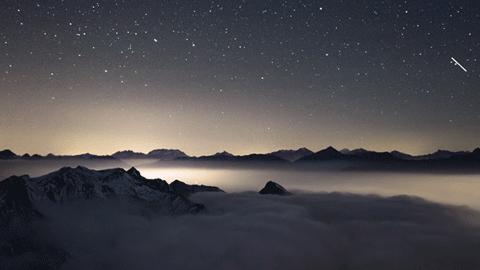구름 속 풍경, 프랑스 알프스와 이탈리아 토리노