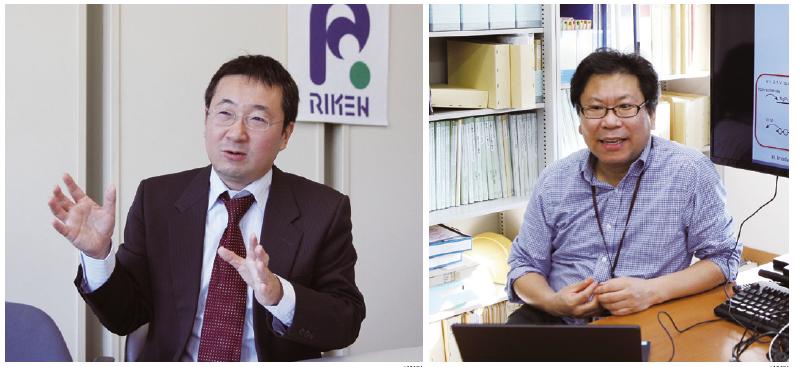 """마루야마 료스케 이화학연구소 평가추진과장(왼쪽)은""""자문위원회를 통한 정성적인 평가가 연구개발(R&D) 시스템의 근간""""이라고 말했다. 김유수 종신 주임연구원은""""일본 과학계는 동료 과학자에게 인정받는 걸 중요하게 생각하는 문화가 있다""""고 설명했다. - 이현경 제공"""