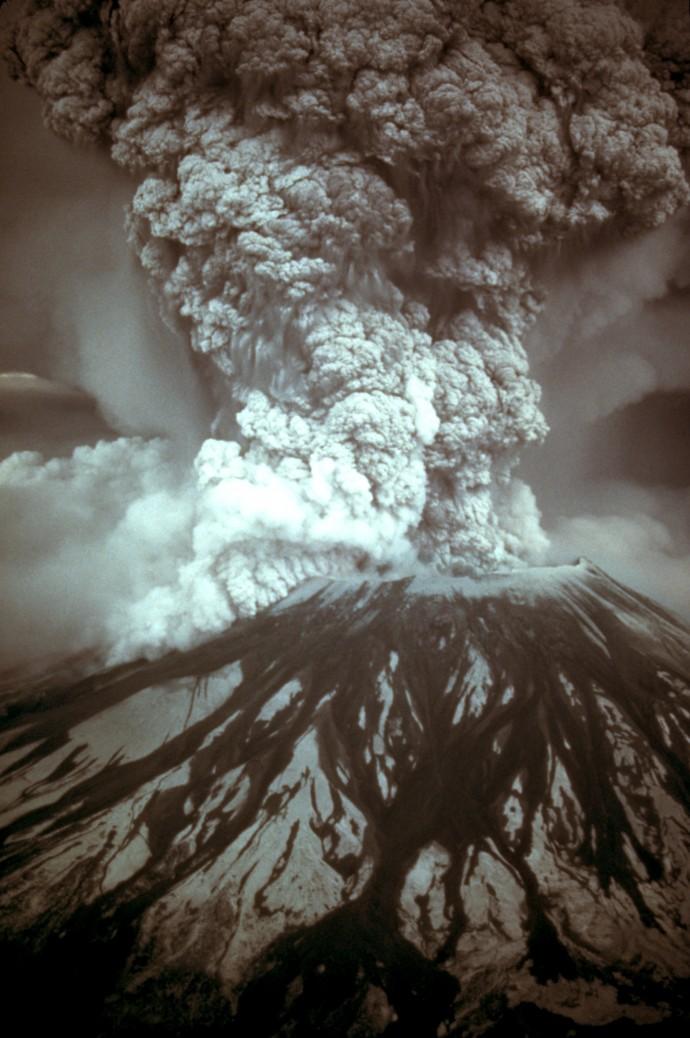 1980년 세인트헬렌즈 화산 분출 당시 모습 - USGS 제공