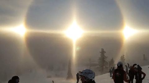 세 개의 태양이 뜬, 스웨덴 스키장