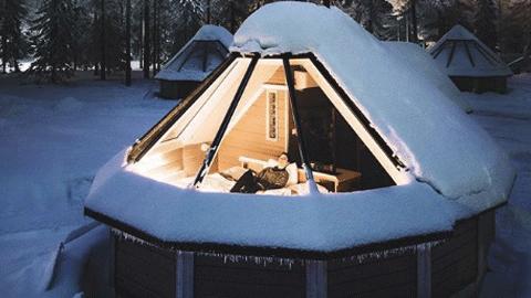 힐링의 현장, 핀란드의 유리 이글루