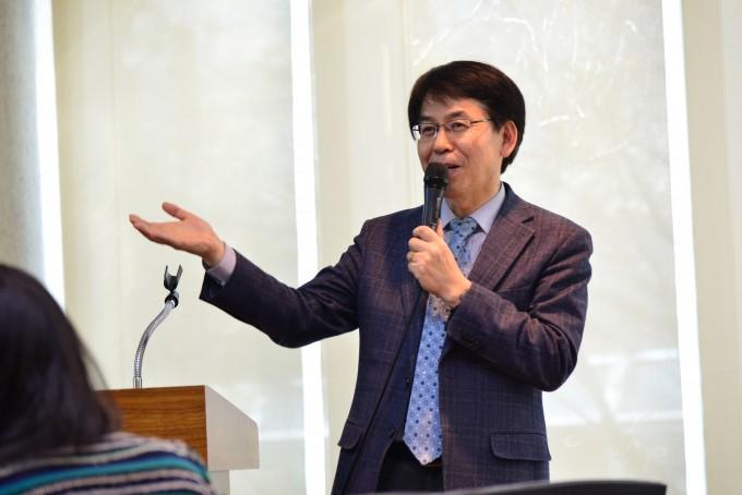 권오승 한국과학기술연구원(KIST) 도핑컨트롤센터(DCC) 센터장이 2018 평창 동계올림픽 기간 센터 운영 계획과 현황에 대해 설명하고 있다. - 한국과학기술연구원 제공