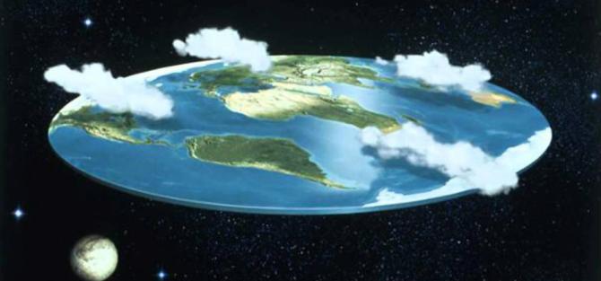 평평한 지구를 믿는 사람들이 그린 지구의 모습