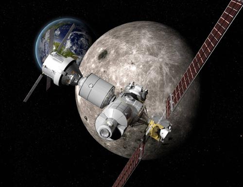 2020년대 달 궤도에 구축할 예정인 우주정거장 '딥 스페이스 게이트웨이(DSG)'의 상상도. - 보잉 제공