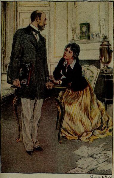 레오 톨스토이, 1919년 안나 카레니나 소설의 삽화. 경직된 사회분위기에서 허락되지 않은 사랑에 빠진 안나 카레니나는 결국 열차에 뛰어 들어 자신의 생을 마친다.
