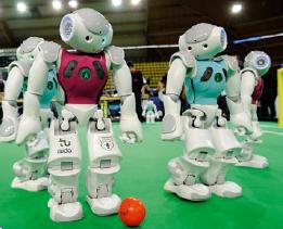 인공지능 축구 로봇은 주변 사물을 인지해 슛을 날린다 - 어린이과학동아 제공