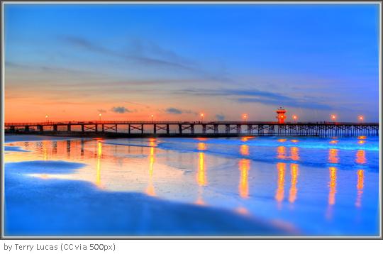 힐링되는 미국 캘리포니아의 파란 빛 바닷가