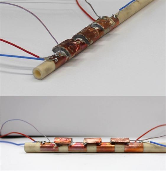 3D 프린터로 배관 모양에 딱 맞춘 열전발전기. 배관에 밀착돼 열회수율이 높다. - UNIST 제공