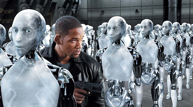 지능을 가진 로봇과 인간의 경계를 어디서 그어야 할까 - 영화 아이로봇(I, Robot, 2004), 네이버 영화 제공