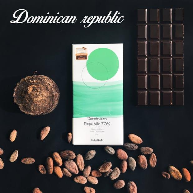 도미니카공화국 산 빈으로 만든 초콜릿 - 카카오다다 제공