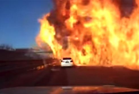 고속도로 LPG 대폭발 '영상'