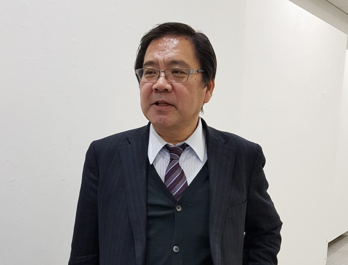 다카라 카오루 일본자연재해안전학회 회장(교토대 교수)이 27일 서울 노원구 서울과학기술대에서 기자와 만나 방재기술 연구의 중요성에 대해 이야기 하고 있다.