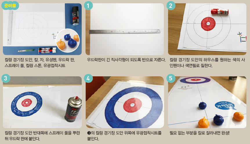 DIY 미니 컬링 만들기 - 어린이과학동아 5호 제공