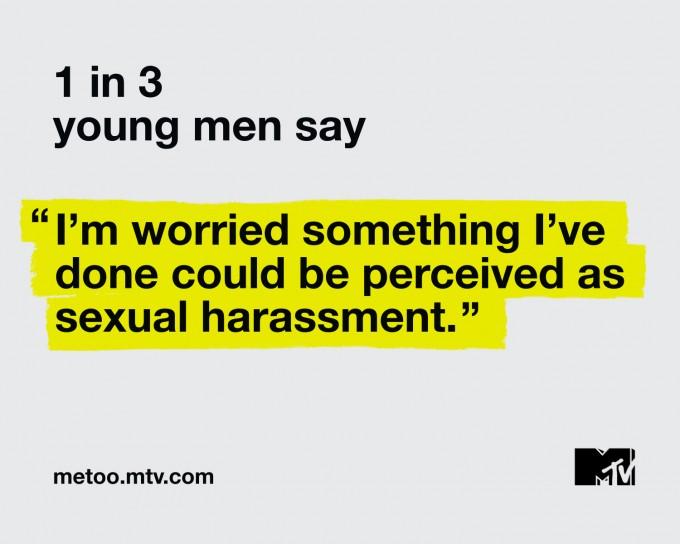 응답자 중 젊은 남성의 1/3은 미투 운동을 통해 자신의 행동이 성희롱이 될 수 있음을 인지하게 됐다고 답했습니다. - MTV 제공