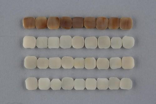 윗줄부터 아래로 (1) 담배 추출물 (2) 액상 전자담배 추출물 (3) 가열식 전자담배(글로) 추출물 (4) 추출물이 포함되지 않은 용매에 각각 노출시킨 소(牛)의 치아다- BAT 제공