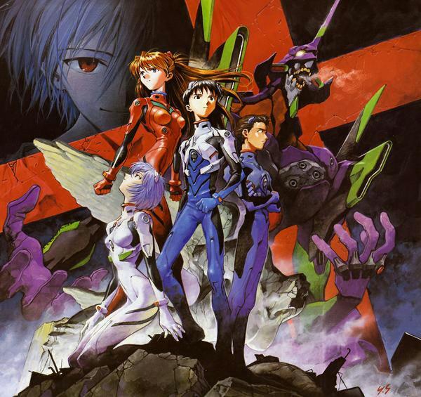 일본 만화영화 에반게리온. 퍼시픽 림의 기본 줄거리는 에반게리온에서 착안했다고 보는 경우가 많다.