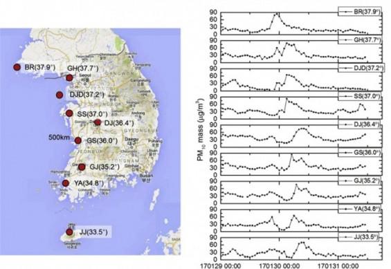 국내 대기 중 '중국산' 초미세먼지 어떻게 알아냈을까?