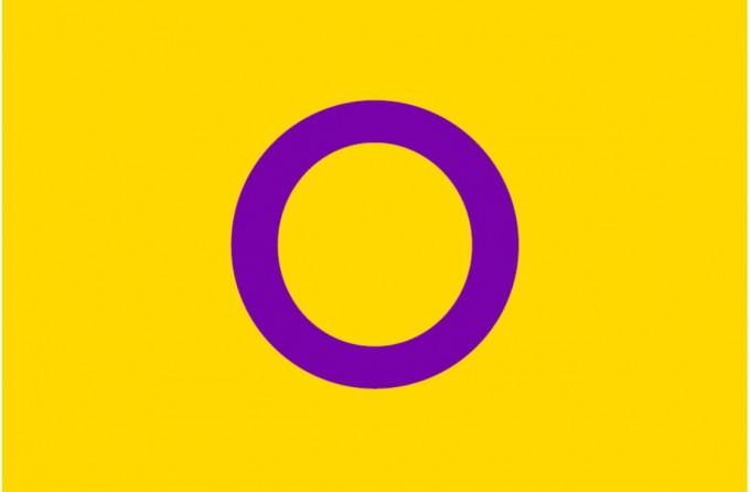 인터섹스를 상징하는 깃발 출처 : CC BY Intersex Australia