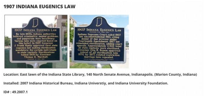 디애나 주정부는 이를 잊지 않기 위해 기록해놓았다 출처 : 인디애나 주정부 홈페이지 캡쳐