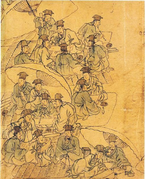 작자 미상. 18세기 민화. 조선의 과거 시험은 신분을 상승시킬 수 있는 가장 확실한 방법이었다. - 위키미디어 제공