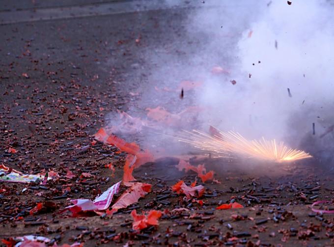 중국 춘절 기간 폭죽놀이 때 국내 대기 중 관련 성분이 7배 증가했다. - 사진 GIB 제공