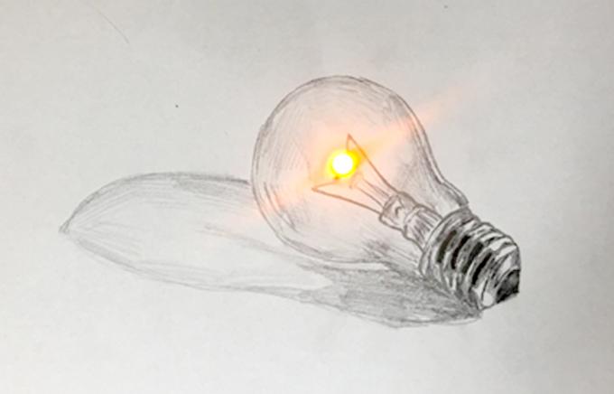 이상영 UNIST 교수팀은 아연 잉크를 개발해 아연-공기 배터리를 개발했다. 종이에 연필과 아연 잉크 펜, 전해질 펜을 이용해 그림을 그리면 배터리가 완성된다. 이상영 교수 제공.