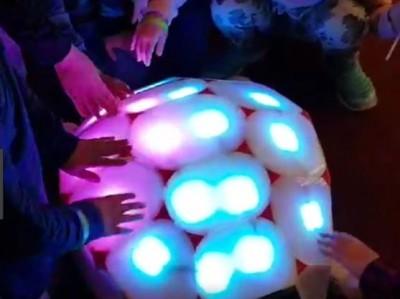13세 이하 유아가 갖고 놀 수 있는 인터랙티브 소셜로봇 '쉘리(Shelly)'. 등껍질의 LED 등에 진동센서가 탑재돼 있어 아이들이 만지거나 누르면 해당 부위만 다른 색깔로 바뀐다. 여러 명이 동시에 자극해도 제각각 반응할 수 있다. - 네이버랩스 제공