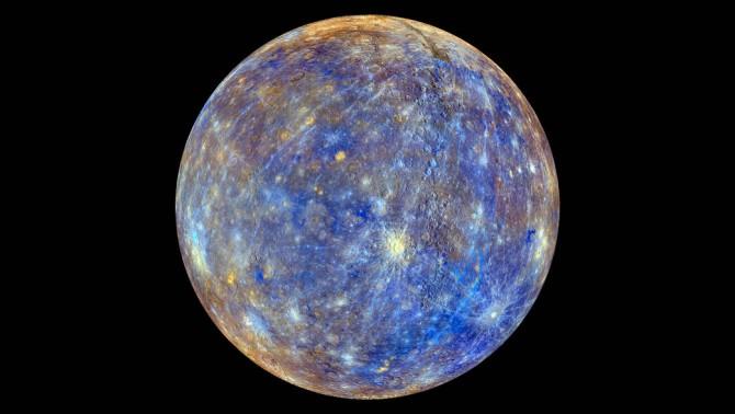 2017년 8월 탐사선 메신저가 찍은 수성의 모습이다.-NASA