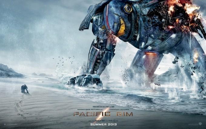 2013년 개봉한 퍼시픽 림의 한 장면. 로봇의 크기가 압도적으로 크다는 사실을 알 수 있다.