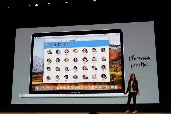 교사들이 학생들의 아이패드를 제어할 수 있는 클래스룸 앱이 맥으로도 나온다. - 최호섭 제공
