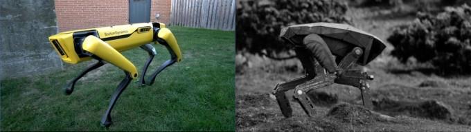 영화 속에 등장하는 살인 로봇과 신기술로 만들어진 로봇 개 - 보스턴다이내믹스, 캡처 화면 제공