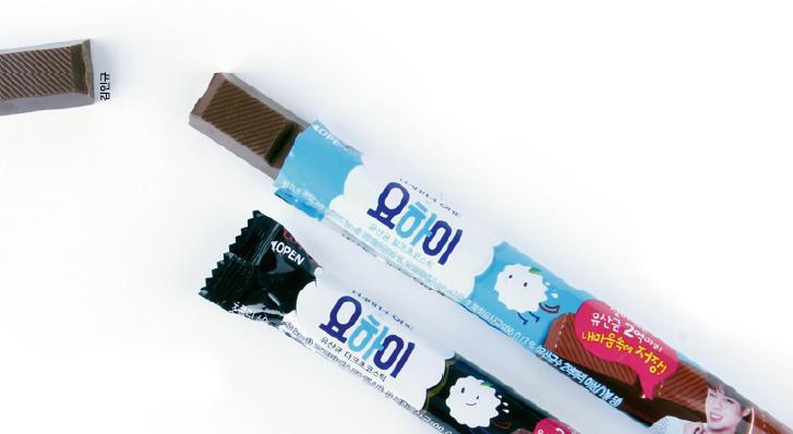 롯데제과의 '요하이 초콜릿'에는 김치에서 발견한 유산균 2억 마리가 담겼다. 초콜릿을 섭취하는 것만으로 변비를 예방하는 효과가 있다. - 과학동아 3월호 제공