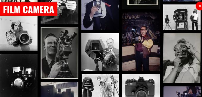 '필름 카메라'로 검색한 화면. 라이트 태그의 사진들은 모두 이런 필름 카메라로 촬영한 사진들이죠. – 화면 캡처