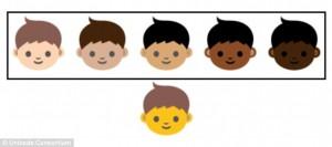 본래 한 가지였던 피부색에 5가지 색상이 추가됐다. - 유니코드 협회 제공