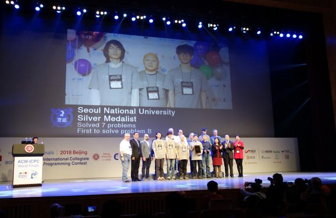 서울대 팀 은메달 수상 장면. - 사진제공 과학기술정보통신부