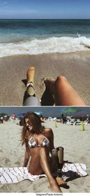용기 있는 브라질 모델의 휴가 사진