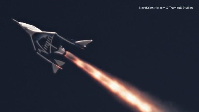 약 100km 상공으로 관광객을 운송할 초음속 비행기 - 버진 갤러틱 제공
