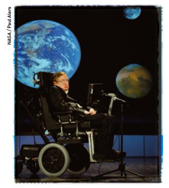 호킹은 과학적 발견을 대중에게 전달하려는 노력을 멈추지 않았다. 기후변화, 인공지능(AI), 핵전쟁 위협 등의 이슈에도 관심을 갖고 목소리를 냈다. - NASA / Paul Alers 제공
