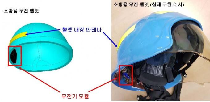 포스텍 연구진이 개발한 무선통신 헬멧