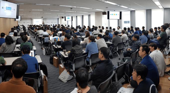 이날 행사에는 전국 300여 명의 개발자가 참석했다. - 바이라인네트워크 남혜현 기자 제공